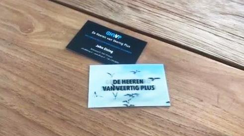 DHVVP interactieve visitekaartjes met bewegende hologram