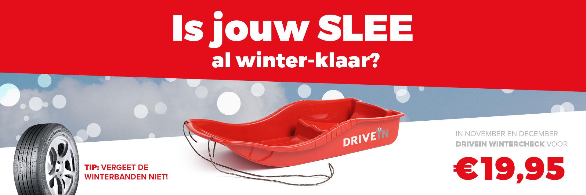 DRIVE IN concept en ontwerp actie winterklaar