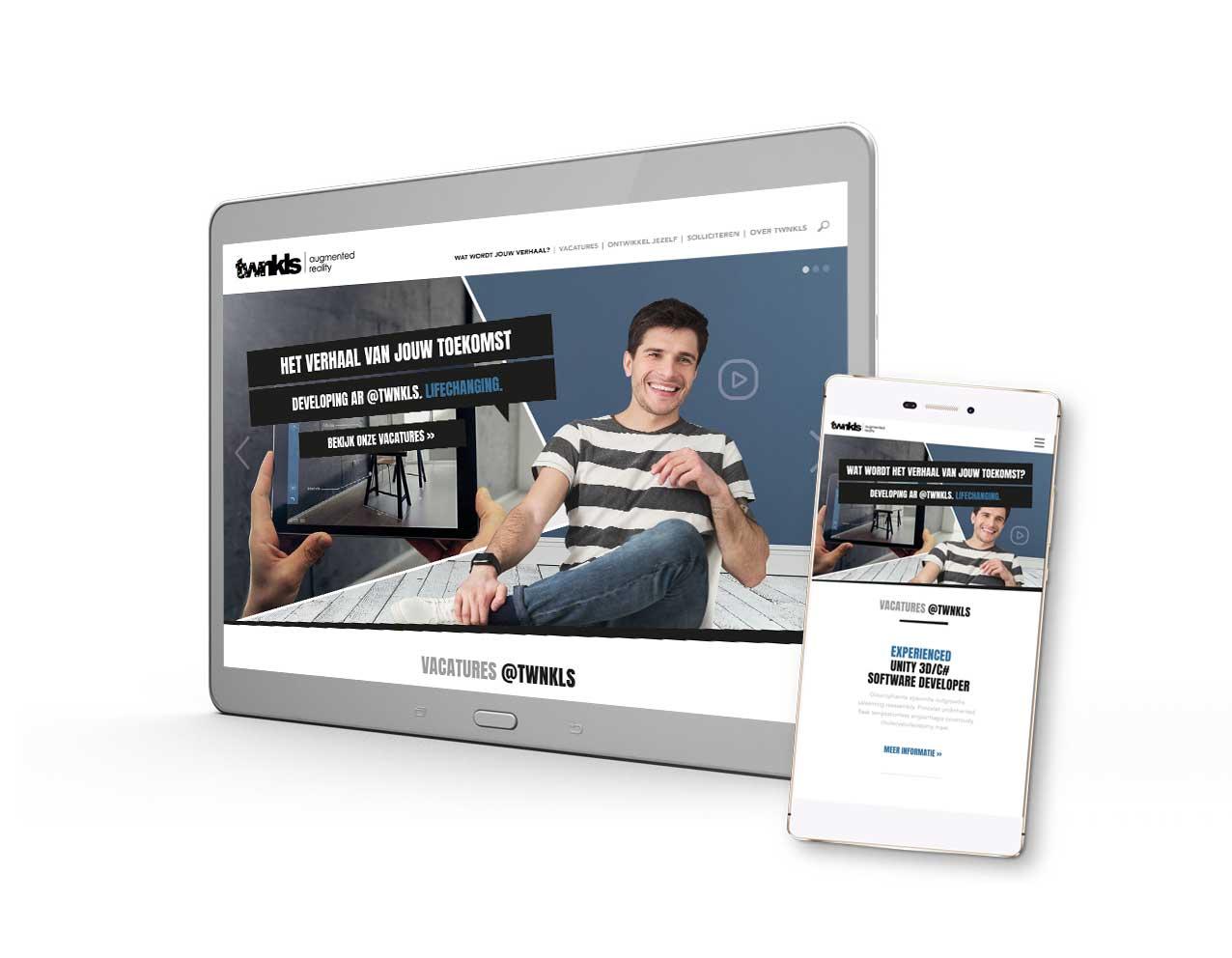 TWNKLS concept employer branding website