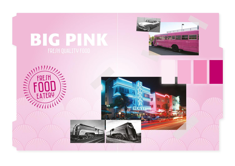 Big Pink moodboard foodtruck