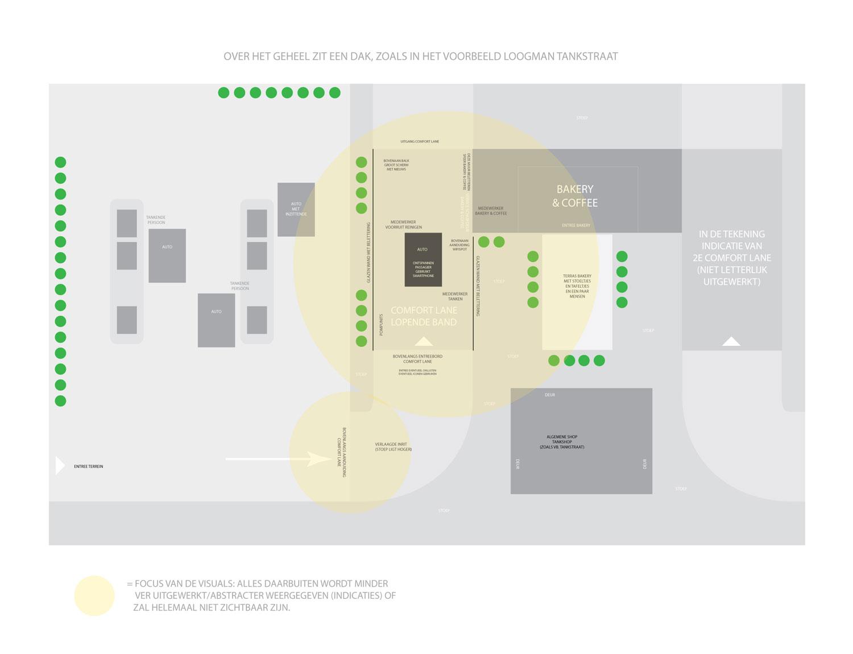 Comfort Lane ruimtelijke indeling