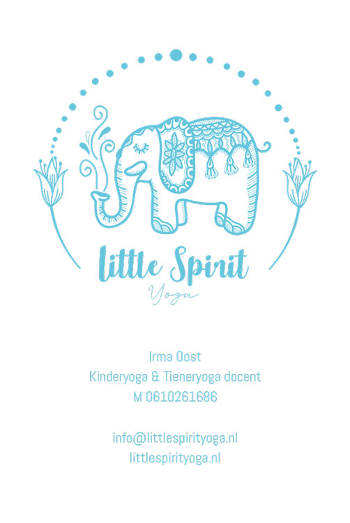 Little Spirit Yoga visitekaartje