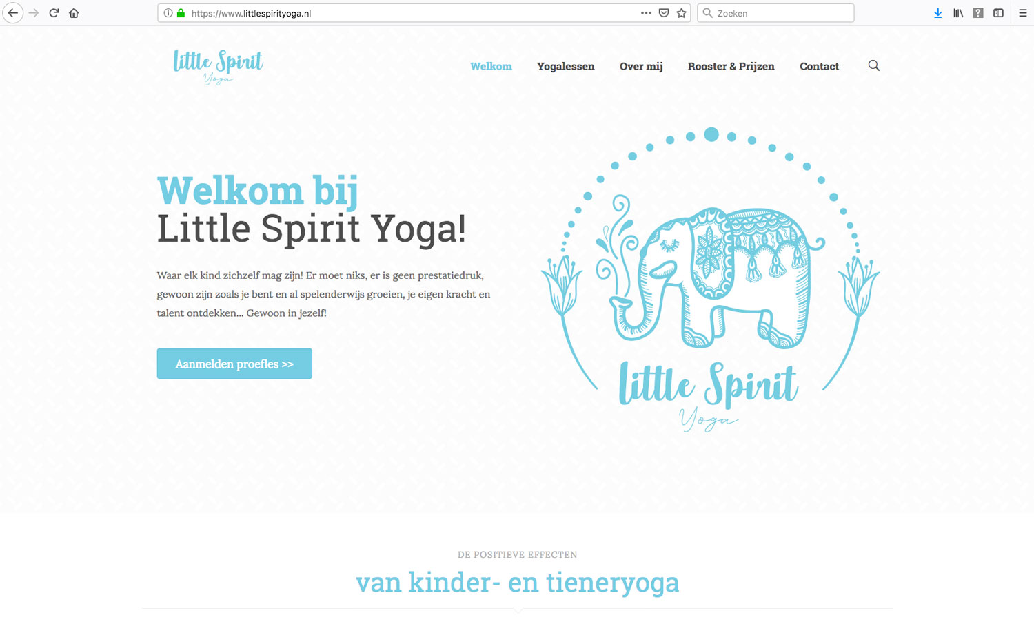 Little Spirit Yoga website