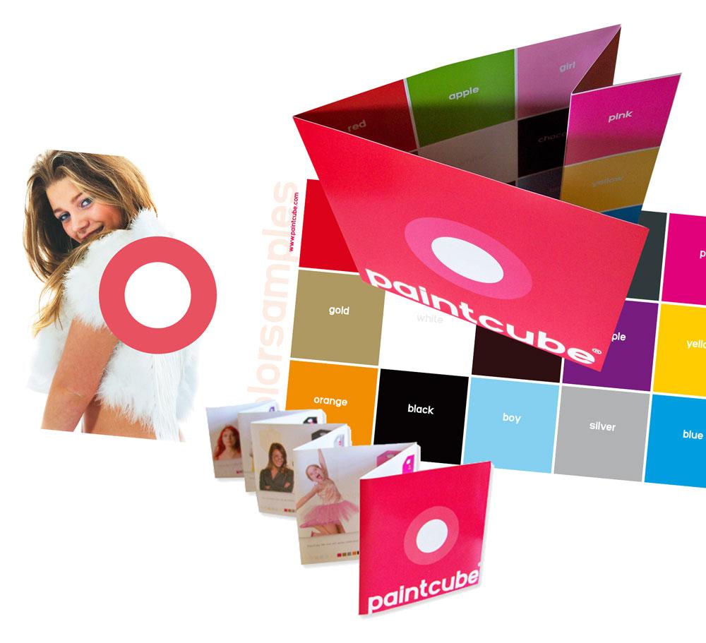 Paintcube folders en kleurstalenkaart